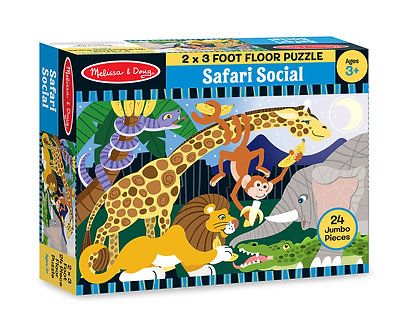 24 Piece Melissa & Doug Safari Social Floor Puzzle