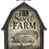 Decorative Pig Barn Block Sign by Young's