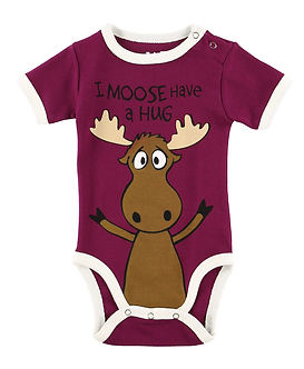 I Moose Have A Hug Baby Onesie by Lazy One