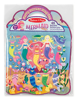 Melissa & Doug Mermaid Reusable Puffy Sticker Play Set