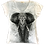 Beaded Elephant V-Neck Shirt by Sweet Gisele