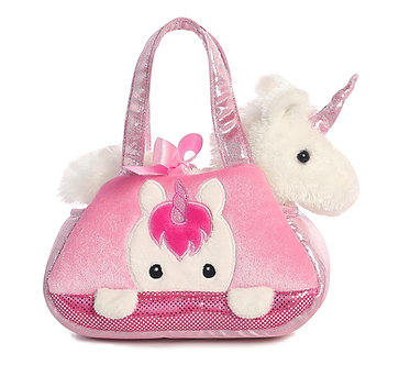 Fancy Pals White Unicorn Peek-A-Boo Purse