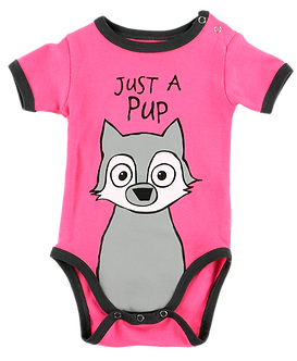 Just A Pup Baby Onesie by Lazy One