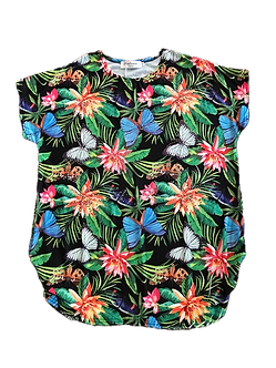 Beaded Tropical Butterfly Shirt by Portman Studios