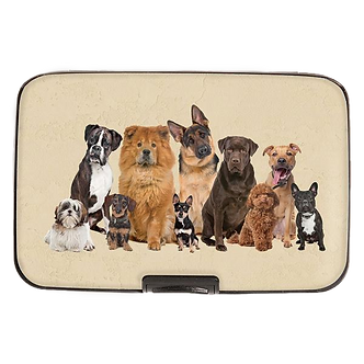 """Dog Breeds"" Armored Wallet by Monarque"