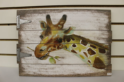 Wooden Giraffe Wall Decor
