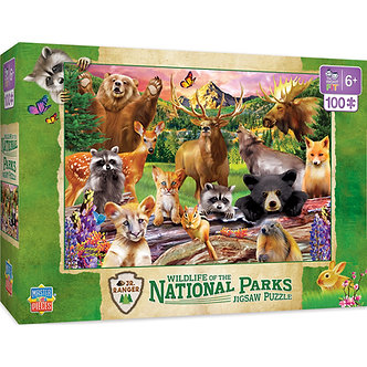 100 Piece Wildlife of the National Parks Jigsaw Puzzle by MasterPieces