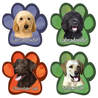 Dog Breed Paw Shaped Magnet/Car Magnet