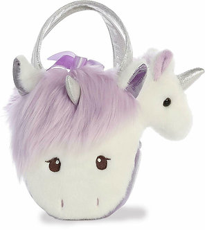 Fancy Pals White Unicorn Purple Plush Purse
