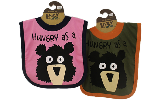 Hungry As A Bear Bib by Lazy One