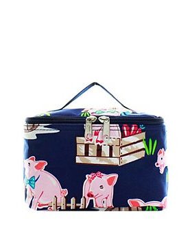 Farmhose Pig Cosmetic Bag by NNK Creations