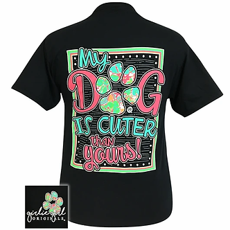 """""""Cuter Than Yours"""" Dog Adult T-Shirt by Girlie Girl Originals"""