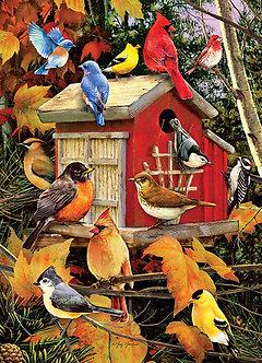 "1000 Piece Bird Jigsaw Puzzle by Cobble Hill ""Fall Birds"""