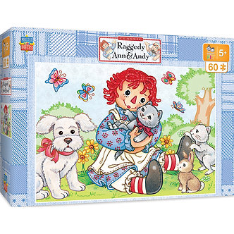 """60 Piece Raggedy Ann & Andy """"Best Friends"""" Jigsaw Puzzle by MasterPieces"""