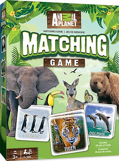 ANIMAL PLANET MATCHING MEMORY CARD GAME by MasterPieces