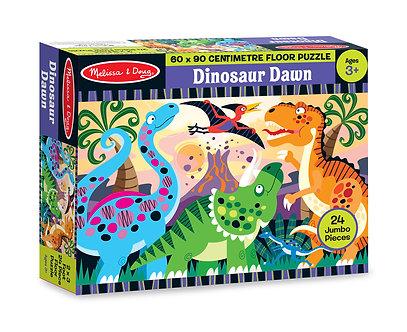 24 Piece Melissa & Doug Dinosaur Dawn Floor Puzzle