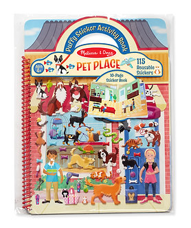 Melissa & Doug Pet Place Reusable Puffy Sticker Activity Book