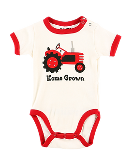 Home Grown Farm Tractor Baby Onesie by Lazy One
