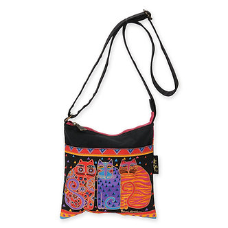 "Laurel Burch ""Feline Friends"" Cat Crossbody Purse"