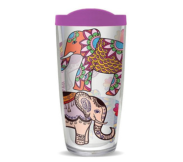 Ethnic Elephant Thermal Insulated Tumbler Cups