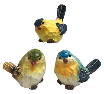 Small Finch and Warbler Bird Figurines by Gerson