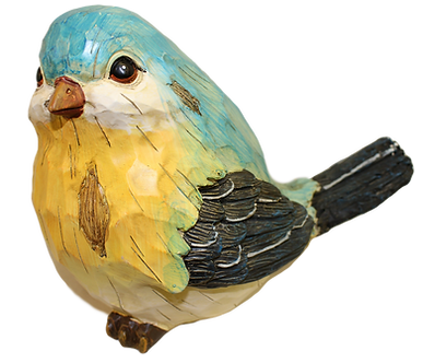Large Blue Northern Parula Bird Figurine by Gerson