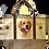 Golden Retriever Dog Canvas Tote Bag, by E&S Pets