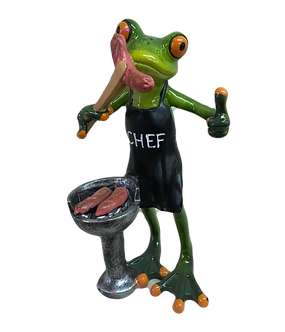 """""""Barbeque Chef"""" Tree Frog Figurine"""