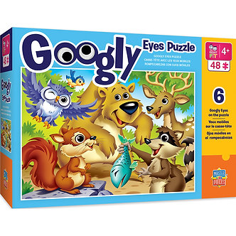 48 Piece Woodland Animals Googly Eyes Jigsaw Puzzle by MasterPieces