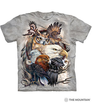 """Sky Kings"" Eagle/Owl/Hawk Adult T-Shirt by The Mountain"