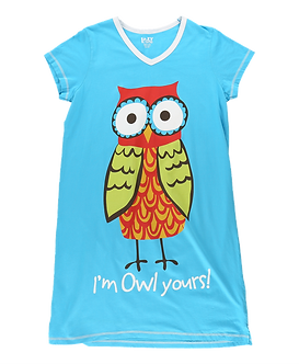 """I'm Owl Yours"" Owl Lazy One Nightshirt"
