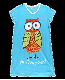 """I'm Owl Yours"" Owl Lazy One Nightshirt"