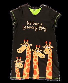 """It's Been a Loooong Day"" Giraffe Lazy One Nightshirt"