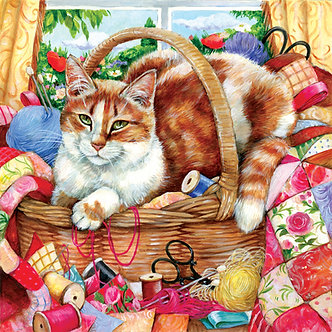 "500 Piece Cat Jigsaw Puzzle by SunsOut ""A Perfect Spot"""