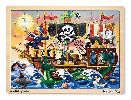48 Piece Melissa & Doug Pirate Adventure Wooden Jigsaw Puzzle
