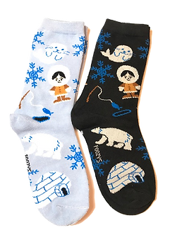 Foozy's Polar Bear/White Seal Socks