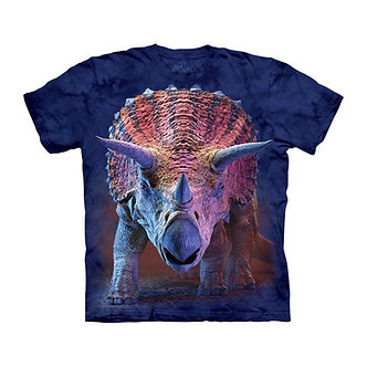 """Charging Triceratops"" Dinosaur Youth T-Shirt by The Mountain"