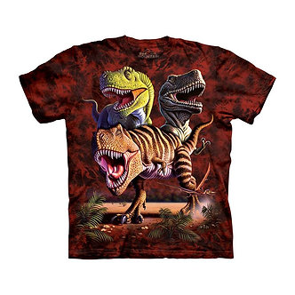"""Rex Collage"" T-Rex Dinosaurs Youth T-Shirt by The Mountain"