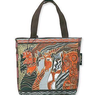 """Laurel Burch """"Moroccan Mares"""" Small Horse Purse/Tote Bag"""