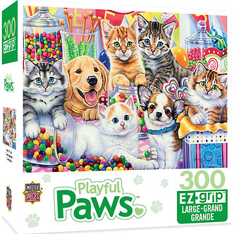 "300 Piece Playful Paws ""Sweet Things"" Dog & Cat Jigsaw Puzzle by MasterPieces"