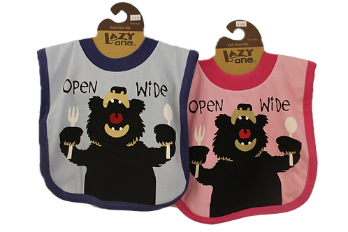 Open Wide Bear Bib by Lazy One