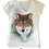 Wolf V-Neck Shirt by Sweet Gisele
