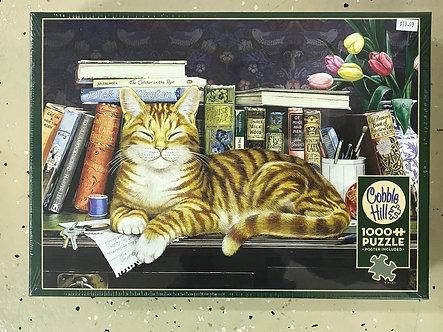"1000 Piece Orange Tabby Cat Jigsaw Puzzle by Cobble Hill ""Marmaduke"""