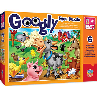 48 Piece Farm Animals Googly Eyes Jigsaw Puzzle by MasterPieces