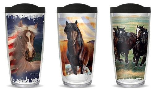 Horse Thermal Insulated Tumbler Cups