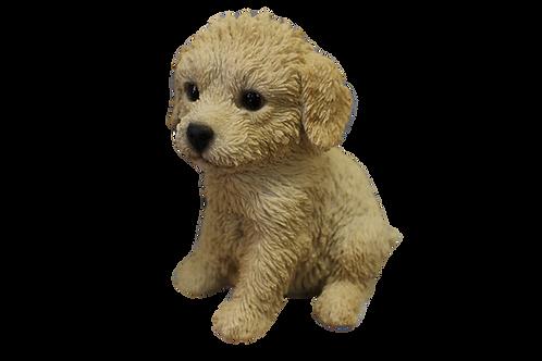 Cream LabradoodlePuppy DogFigurine