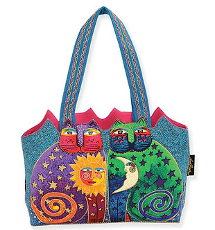 "Laurel Burch ""Celestial Felines"" Cat Cutout Purse"
