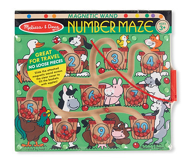 Melissa & Doug Magnetic Wand Number Maze Game