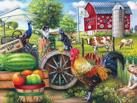 "500 Piece Farm Jigsaw Puzzle by SunsOut ""Farm Life"""