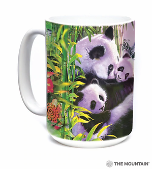 Panda Cuddles Ceramic Coffee Cup/Mug by The Mountain